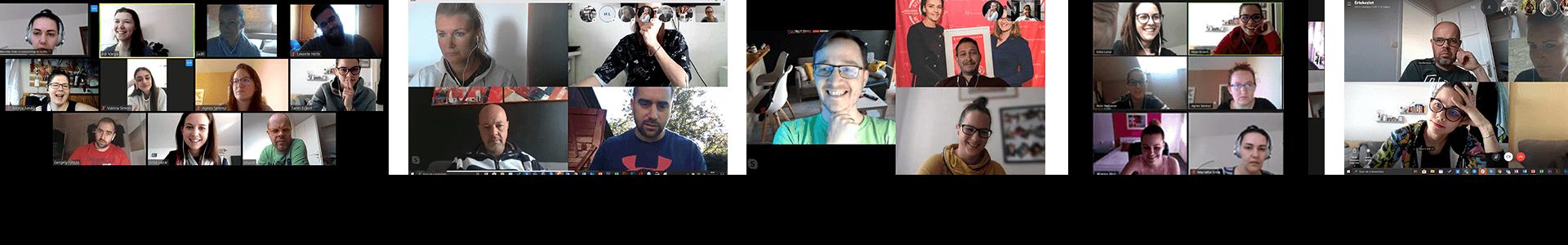 online közösség a y-shift csapatában meetingek
